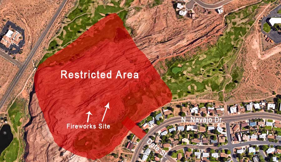 Page Arizona Fireworks Restricted Areas Map